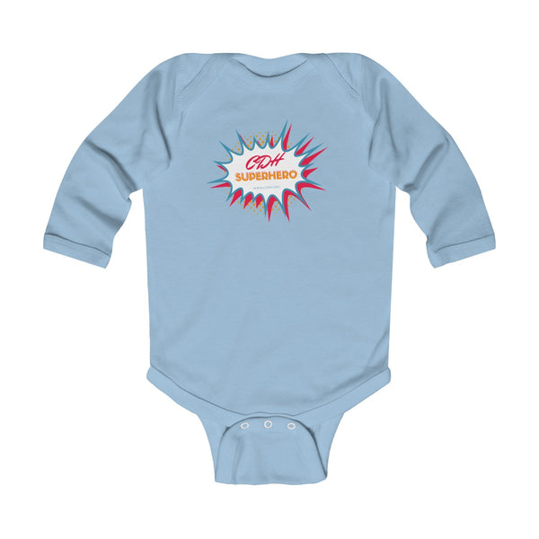 """BAM! CDH Superhero"" Infant Long Sleeve Bodysuit"