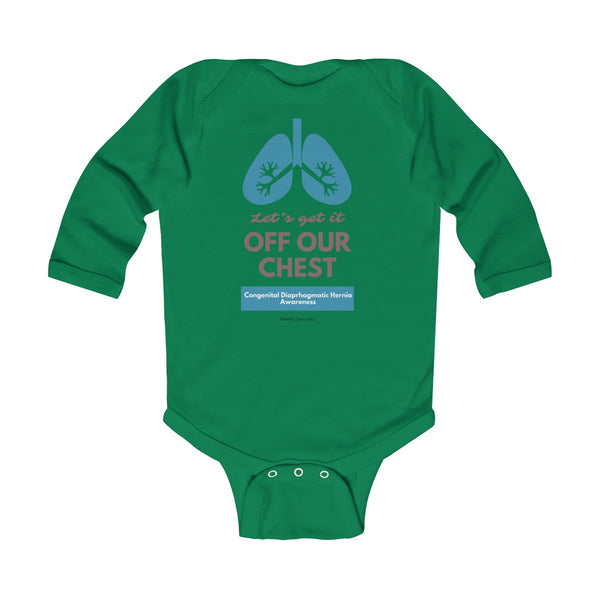 Get It Off Your Chest CDH Awareness Infant Long Sleeve Bodysuit