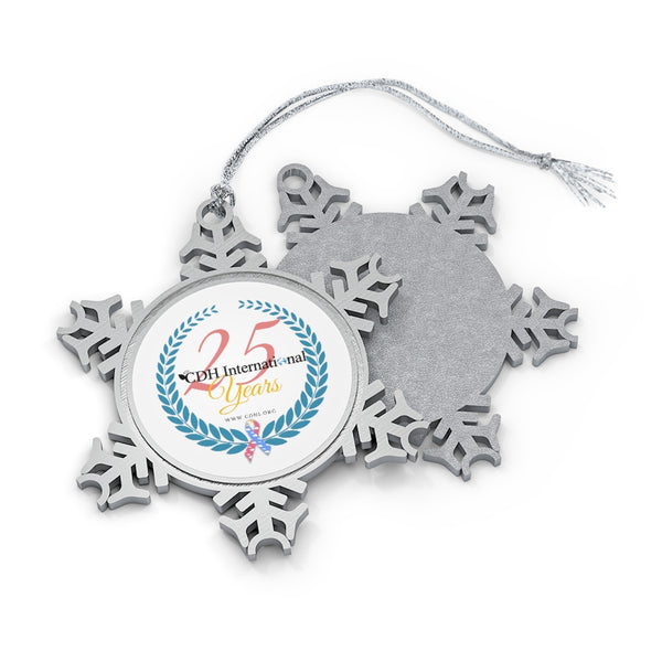 CDH International 25th Anniversary Pewter Snowflake Ornament
