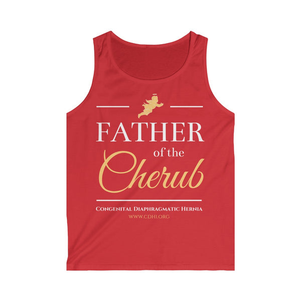 """Father of the Cherub"" Men's Softstyle Tank Top  (UK Printing) - CDH International"