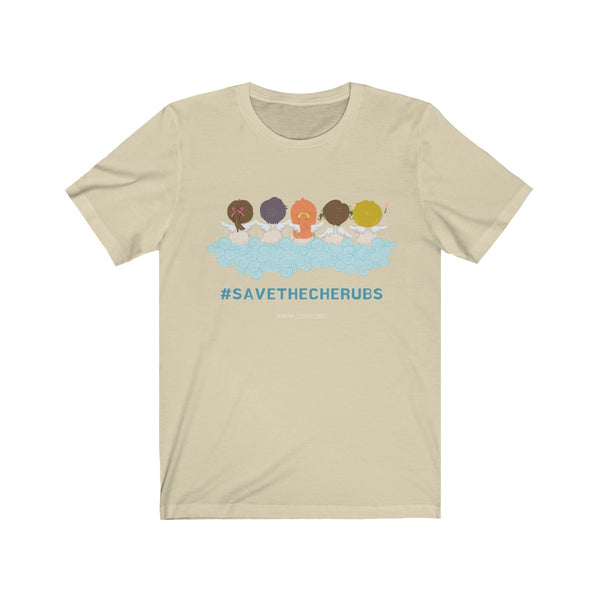 #savethecherubs Unisex Jersey Short Sleeve Tee (UK Printing) - CDH International