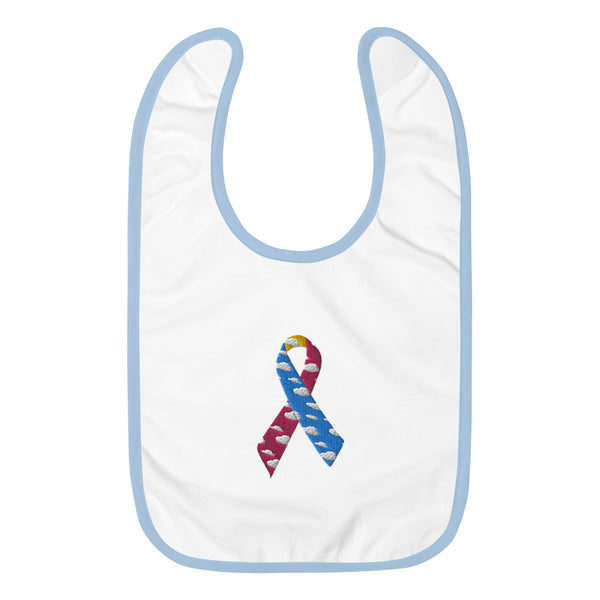 CDH Ribbon Embroidered Baby Bib