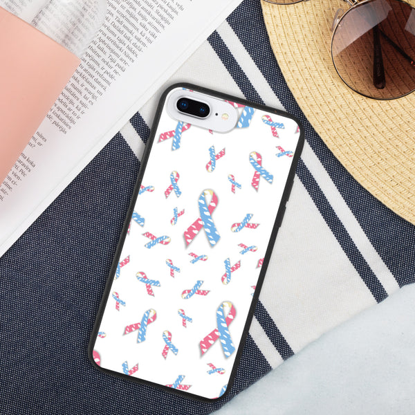 CDH White Ribbon Biodegradable Iphone case