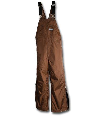 Dan's High-n-dri brown WATERPROOF BIBS - Coon Hunter Supply