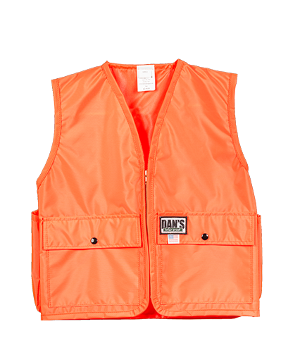 Dan's Kid's Blaze Orange Vest - Coon Hunter Supply