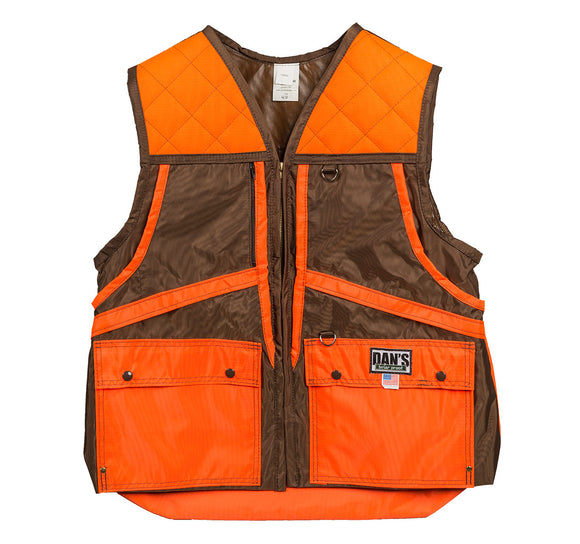 Dan's Game Vest Brown/Orange - Coon Hunter Supply