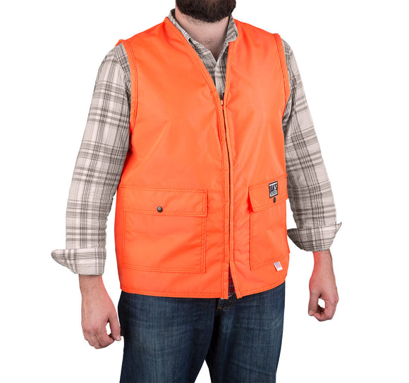 Dan's Heavy Duty Blaze Orange Vest - Coon Hunter Supply