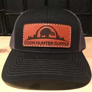 coon hunter supply hat black - coon hunter supply