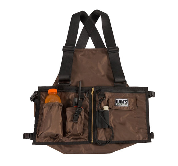 Dans Ultimate Strap Vest Brown - Coon Hunter Supply