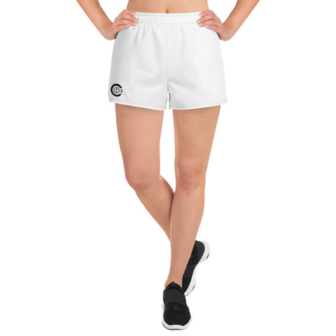 White HO Women's Athletic Short Shorts