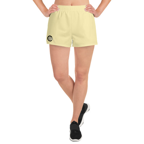 Yellow HO Women's Athletic Short Shorts