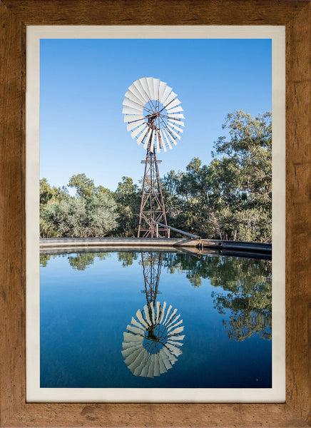 Windmill reflection