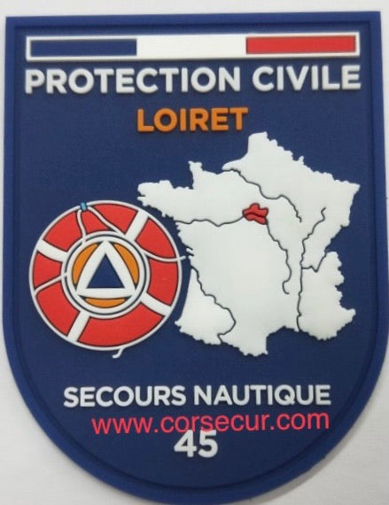 ÉCUSSON PROTECTION CIVILE LOIRET