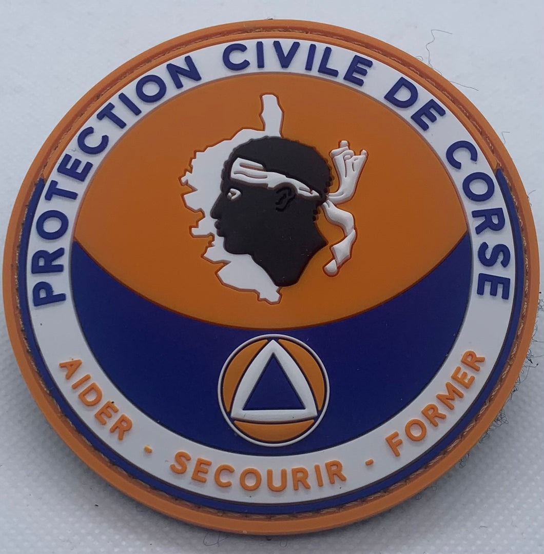 ÉCUSSON PROTECTION CIVILE DE CORSE
