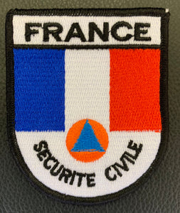 ÉCUSSON BRODÉ SÉCURITÉ CIVILE FRANCE