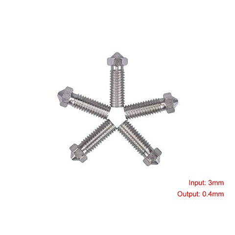 3D Printing Accessories Nozzle Mech Solutions E3D Volcano Stainless Steel 3 mm 0.4mm 10 Pcs |Mech E-store