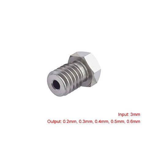 3D Printing Accessories Nozzle Mech Solutions E3D V6 Stainless Steel 3 mm 5 Size 10 Pcs |Mech E-store