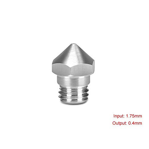 3D Printing Accessories Nozzle Mech Solutions MK10 Stainless Steel 1.75 mm 0.4mm 10 Pcs |Mech E-store
