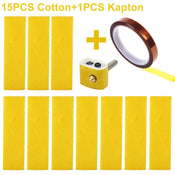 15 PCS Heating Block Cotton and 1 Roll Adhesive Kapton Tape