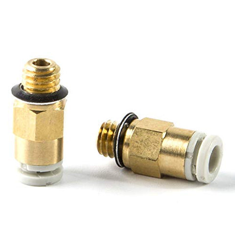 3D Printing Accessories Extruder & Accessories Mech Solutions PC4-M6 Brass Direct Connector 5 pcs |Mech E-store