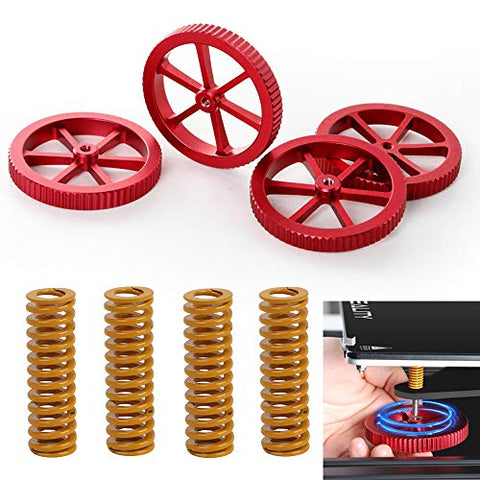 3D Printing Accessories Print Bed & Accessories Mech Solutions Hand Twist Leveling Nuts with Spring 4 pcs |Mech E-store