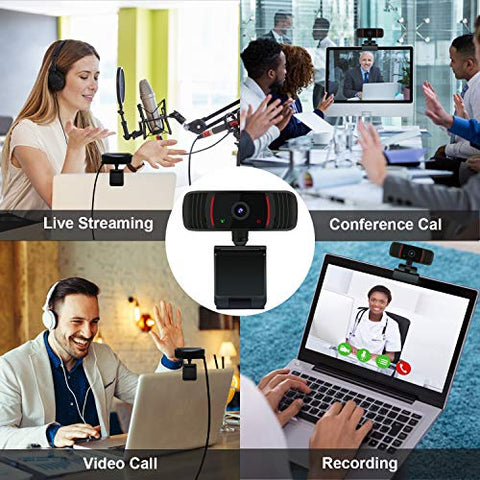 Peteme Web Cameras with Microphone for Computers,1080P HD Webcam Streaming Computer Web Camera Conferencing USB Computer Camera for PC Laptop Desktop Video Calling