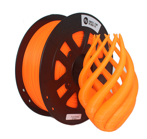 Mech Solutions 1.75mm PLA 3D Printer Filament 1 KG - Fluorescent Orange