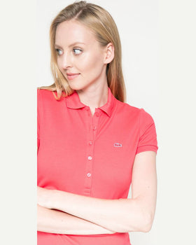 Top Lacoste coral