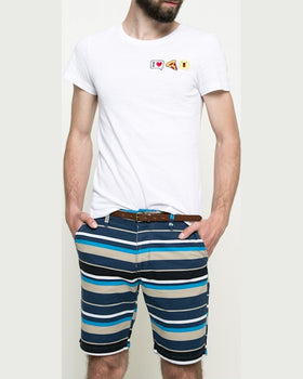 Pantaloni Tom Tailor scurti bleumarin