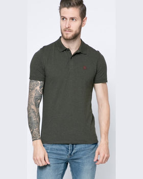 Tricou Selected polo măsliniu