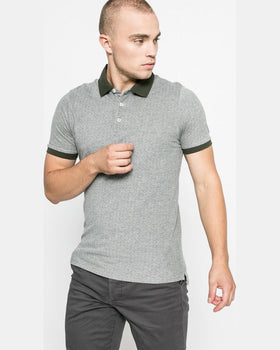 Tricou Jack and Jones polo măsliniu