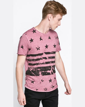 Tricou Jack and Jones flags roz pastelat