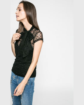 Top Guess pammy negru