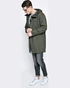 Parka Review hanorac verde