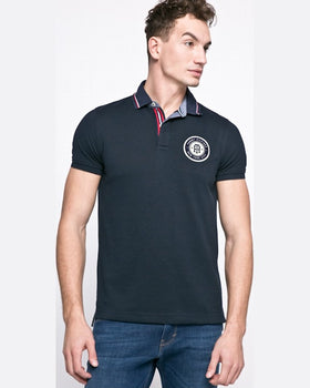 Tricou Tommy Hilfiger polo bleumarin