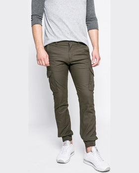 Pantaloni Jack and Jones verde închis