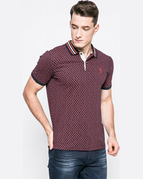 Tricou US Polo polo bordo