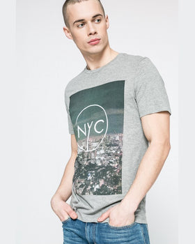 Tricou Jack and Jones gri deschis
