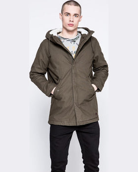 Parka Jack and Jones hanorac verde închis