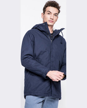 Parka Jack and Jones hanorac bleumarin