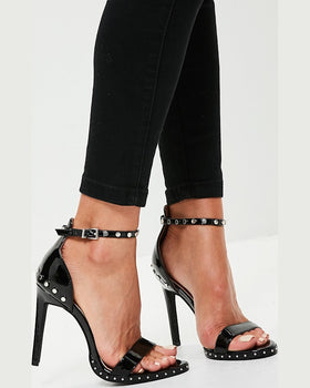 Sandale Missguided studded sole barely there negru