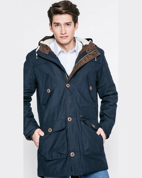 Parka Review hanorac bleumarin