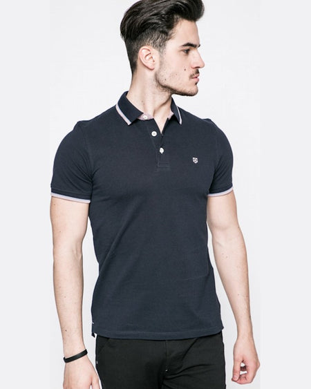 Tricou Polo Negru Jack and Jones