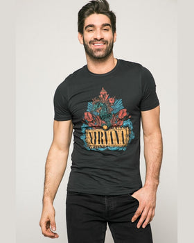 Tricou Jack and Jones negru cărbune