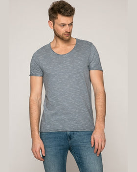 Tricou Selected bleumarin