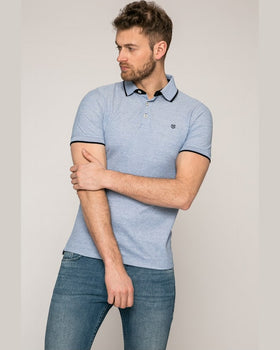 Tricou Jack and Jones polo albastru