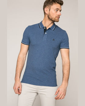 Tricou Selected polo bleumarin