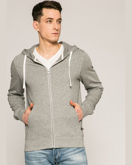 Bluza Jack and Jones gri deschis