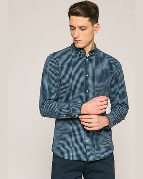 Camasa Jack and Jones hudson albastru metalic