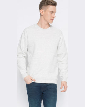 Bluză Jack and Jones land sweat cerw neck crem
